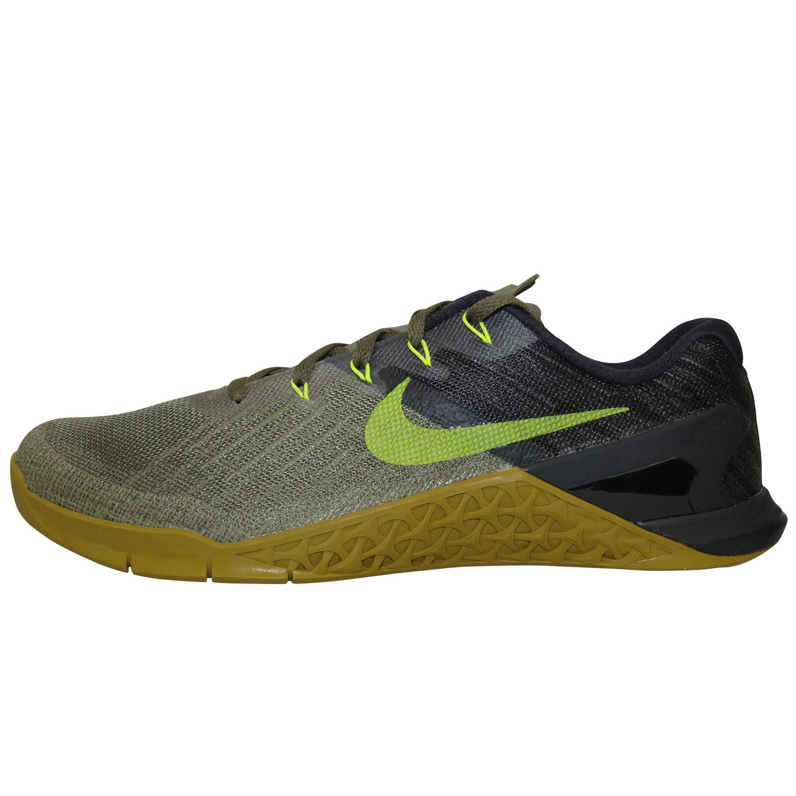 Detalles de Nike Metcon 3 OlivaNegro CrossfitZapatillas de Entrenamiento 852928 201