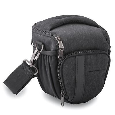 Kameratasche mit Regenschutz für Spiegelreflexkamera und Systemkamera, schwarz