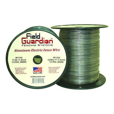 Field Guardian 17ga Aluminum Wire 12 Mile Electric Fence Af1750 814421011695
