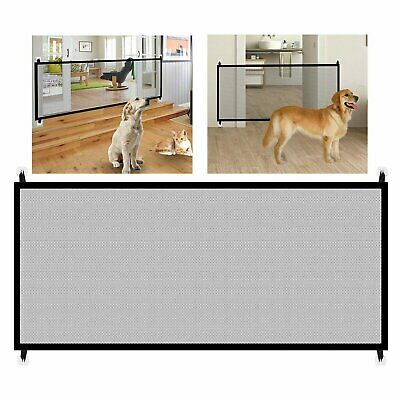 Large Pet Dog Baby Safety Gate Mesh Fence Portable Guard Indoor Home Kitchen net Dog Supplies