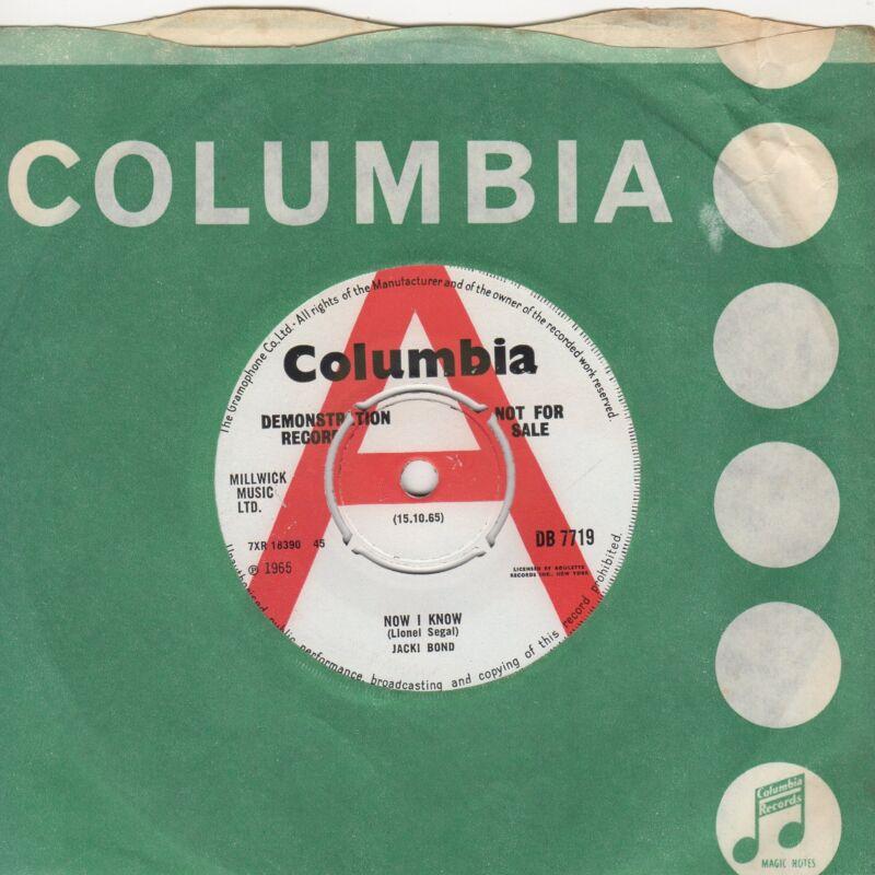 Jacki Bond Now I Know Columbia DEMO DB7719 Soul Northern motown