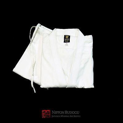 Heavyweight White Uniform (New 12oz Heavyweight Karate Gi Uniform Set Karate Martial Arts Gi )