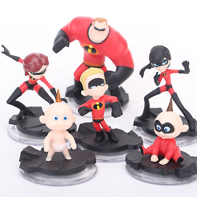 6Pcs Pixar The Incredibles 2 Action Figure Play Set Toy Doll Cake Topper Kids