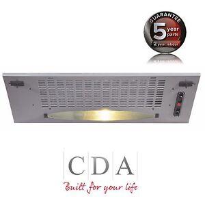 CDA CCA5SI 50cm Under Canopy Cooker Hood Extractor Fan In Silver