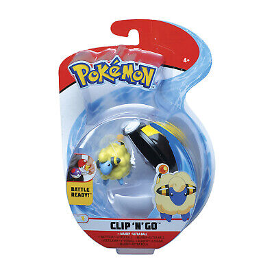 Wicked Cool Toys Pokemon Clip N Go Mareep Set NEW IN STOCK
