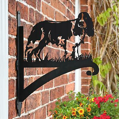 English Springer Spaniel Dog Iron Hanging Basket Bracket