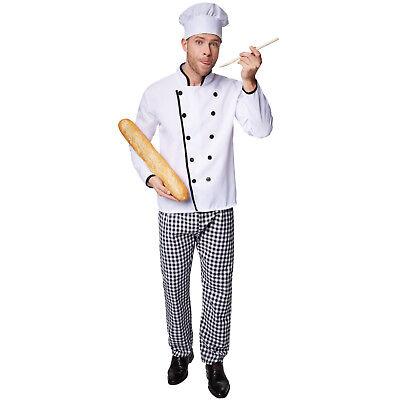 Herrenkostüm Sterne-Koch Halloween Kostüm Karneval Fasching Kücke Kochen - Sterne Herr Kostüm