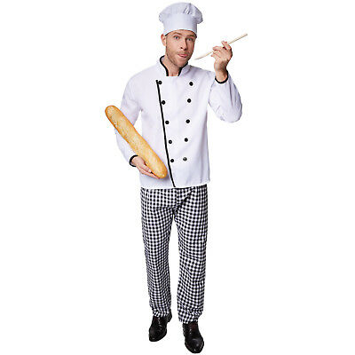 Herrenkostüm Sterne-Koch Halloween Kostüm Karneval Fasching Kücke Kochen - Halloween Herren