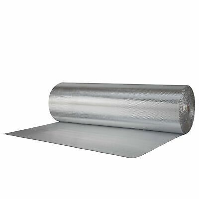 """50sqft White Faced Double Bubble Reflective Foil Thermal Insulation 24/""""x25/'"""
