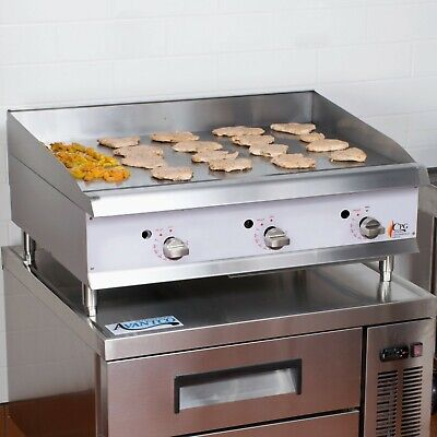 36 Natural Gas Commercial Restaurant Countertop Griddle - Thermostatic Controls