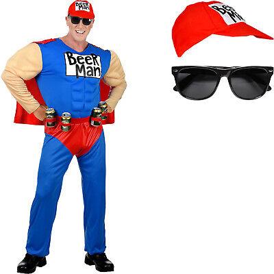Muskel Bier Anzug Superheld Beerman lustig Biermann Fasching - Super Bier Mann Kostüm