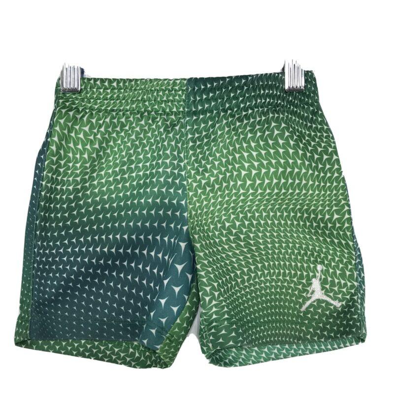 NIKE Air Jordan Jumpman Athletic Shorts Sz 12M 12 Months Green Geometric LOGO