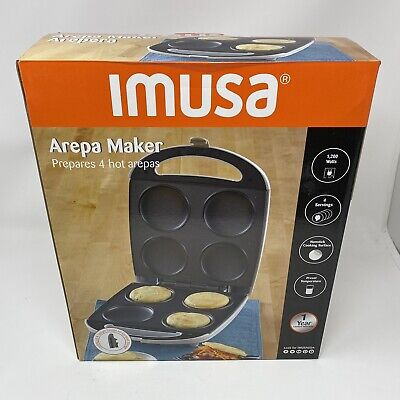 IMUSA GAU-80300 Electric Arepas Maker with Nonstick Surface 4 Slot