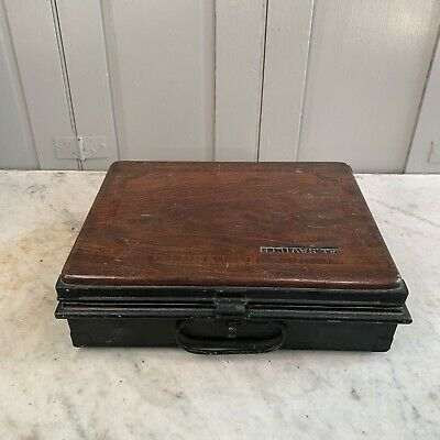 Antique Toleware box with wooden top - restoration job