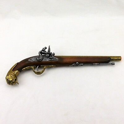 Denix Replica 18th Century German Flintlock Pistol Bronze Finish - 1043/L