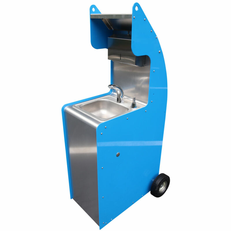 Tie Down Stand Alone Portable Cold Water Wash Sink