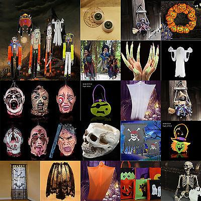 Happy Halloween Party Decor Door Hanging Pumpkin Spider Skull Head Pendant Props