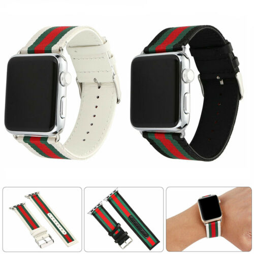 For Apple Watch 5/4/3 Band Pattern Stripe Sport Replacement