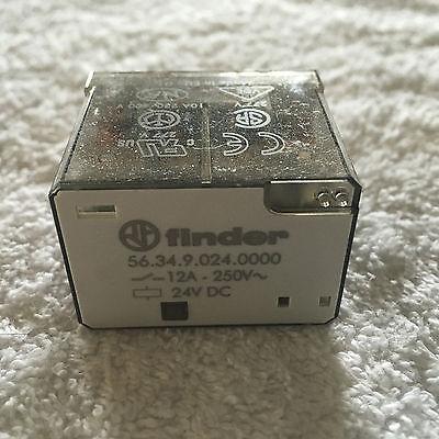 Finder 56.34.9.024.0000 Power Relay 12a 250v 24v Dc