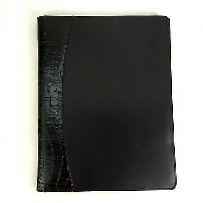Buxton 9 X 12 Writing Portfolio Pad Black Crocodile Business Organizer Folio