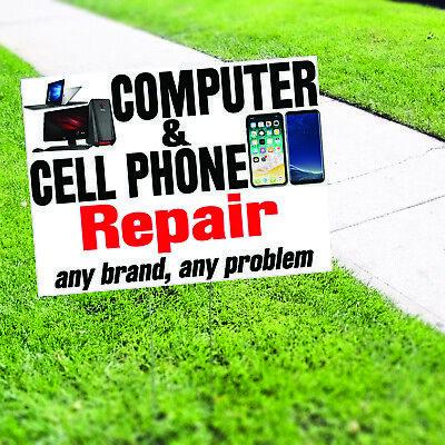 Computer Cell Phone Repair Plastic Novelty Indoor Outdoor Coroplast Yard Sign