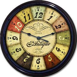 Roulette Wheel Paris France casino gambling Wall Clock Antique vintage look new