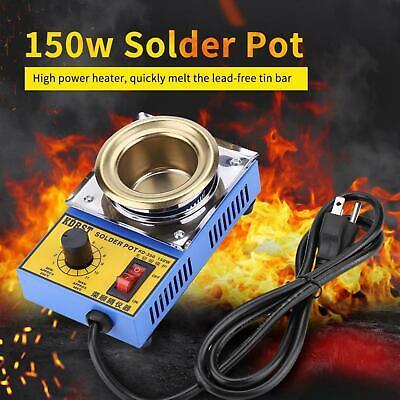 110v 150w Lead-free Solder Pot Soldering Desoldering Bath Plate Us Plug