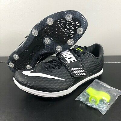 00c91ceee New Mens Nike Zoom High Jump Elite Track Spikes Black White Sz 11 806561 017
