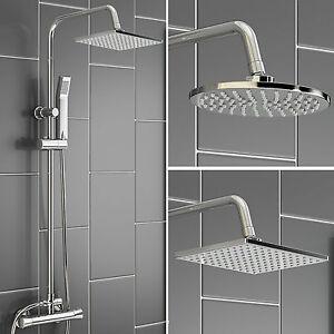 Modern Bathroom Mixer Shower Square or Round Chrome ...