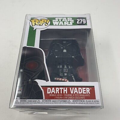 Funko Pop! Star Wars Darth Vader X-mas Holiday #279 With Protective Case