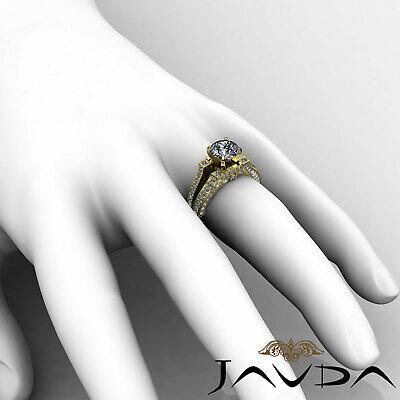 Split Shank Bezel Pave Setting Round Diamond Engagement Ring GIA F VS2 1.71 Ct 11