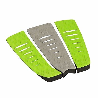 - Surfboard Traction Pad - 3 Piece Diamond Green Grey Green | Skimboard