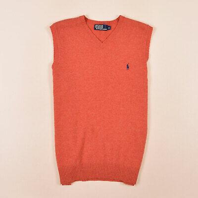 100% Lammwolle (Ralph Lauren Herren Pullunder Weste Pullover Gr.S 100% Lammwolle Orange, 72540)