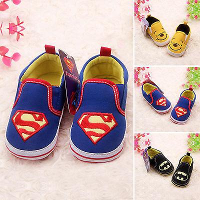 Baby Batman Superman Krabbelschuhe Sneakers Turnschuhe Jungen Mädchen Schuhe DE