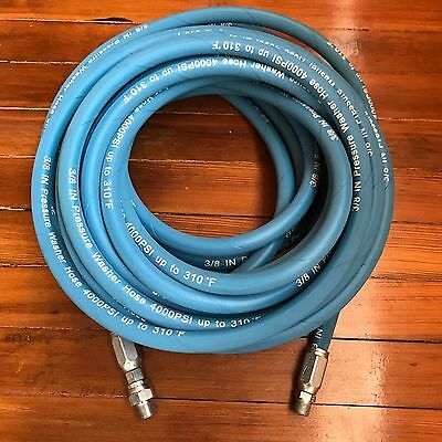 50ft 38 4000psi Blue Non-marking Pressure Washer Hose Flexible New