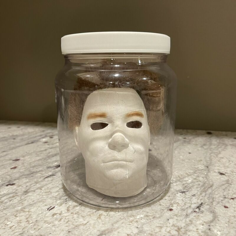 1998 Halloween Michael Myers Mini Miniature Mask in a Jar by Don Post Studios