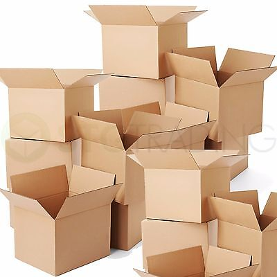 100 x HIGH GRADE SMALL MAILING PACKING CARDBOARD BOXES 4x4x4
