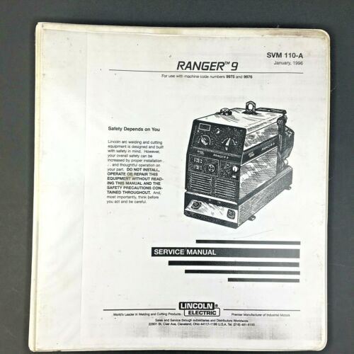 Ranger 9 Lincoln Electric Service Manual SVM110-A