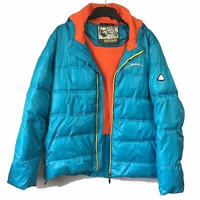 Używany, IGUANA Mens Sz L Ski Jacket Padded Puffer Vibrant Grunge Anorak Vintage Y2K 90s na sprzedaż  Wysyłka do Poland