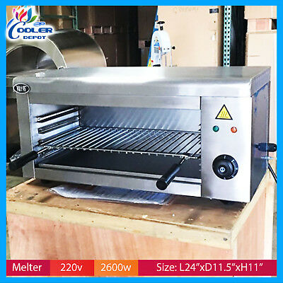 Cheese Melter Electric Salamander Broiler Restaurant Kitchen 220v Cooler Depot
