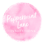 Peppermint Lane Invitations