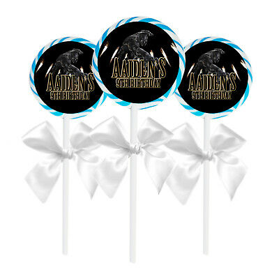 24 Black Panther Birthday Party Favors Personalized 1.65