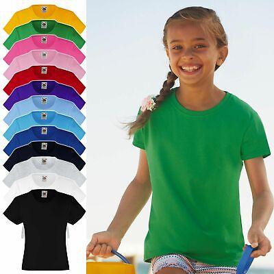 Fruit of the Loom: Kinder, Mädchen T-Shirt * Girls Valueweight T 61-005-0 * NEU
