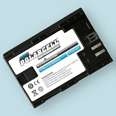 PolarCell Canon LP-E6N - LP-E6 Akku - 2120mAh Li-Ion Batterie inkl. Infochip