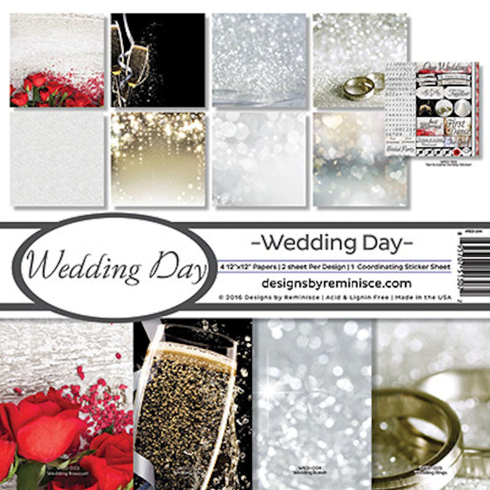 12x12 wedding scrapbook paper - Reminisce Wedding Day Scrapbook Kit 8 12x12 Papers