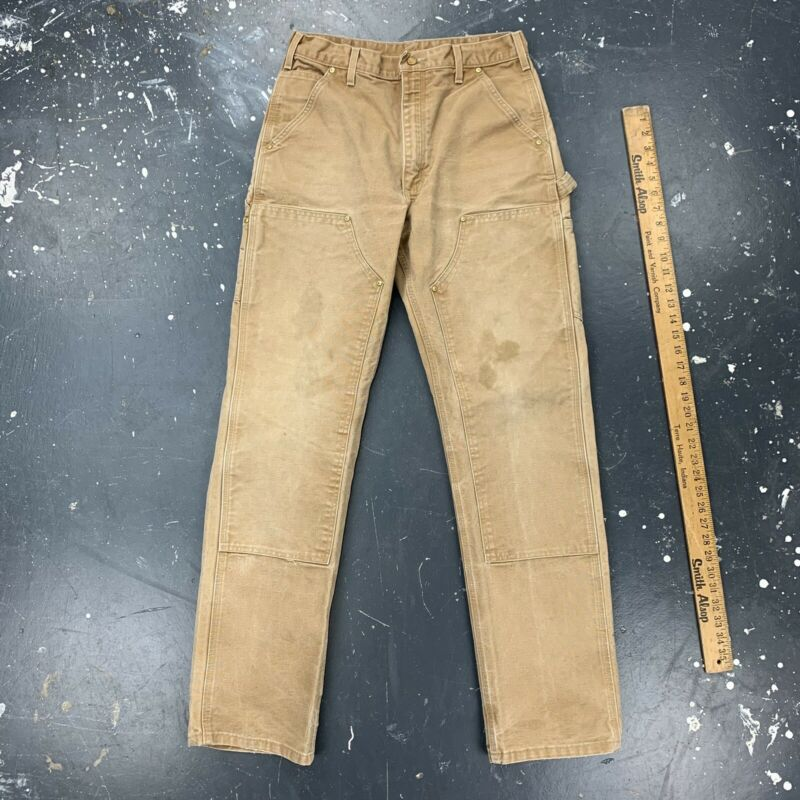 30x33 Carhartt Double Knee Work Pants Distressed Faded