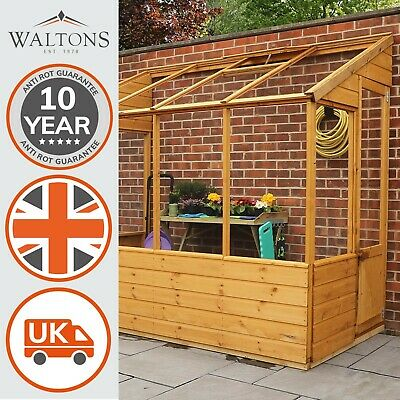Wooden Greenhouse 8x4 Lean-To Outdoor Building Potting Shed Pent Roof 8ft 4ft