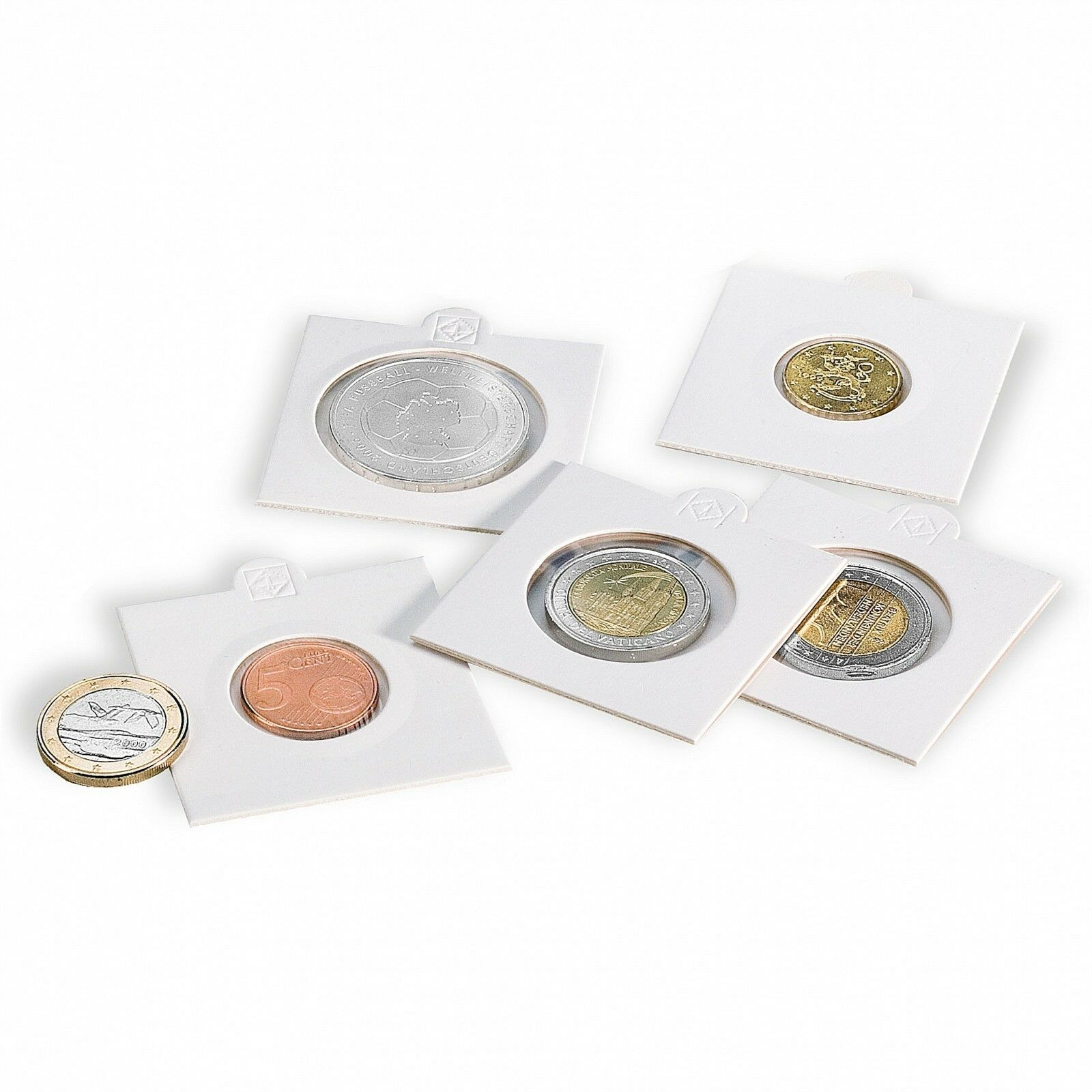 2x2 Coin Holders Self Adhesive Flips Small Dollar 0 27.5 mm 50 Pack Supersafe