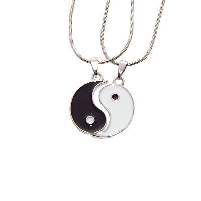 Yin und Yang Ying Partner Schmuck Anhänger Partnerkette Freundschaft Kette (Freundschaft Halskette Ying Yang)