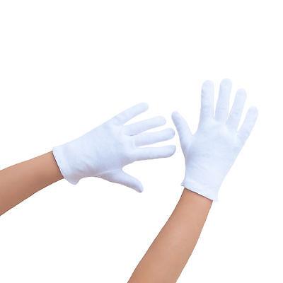 Kinder Baumwoll Handschuhe in weiß - auch für kleine Erwachsenenhände geeignet  ()